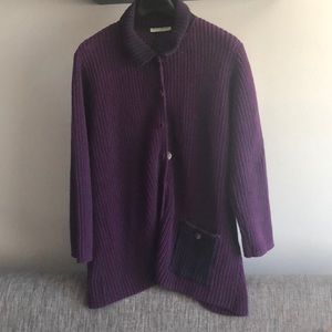 Margaret Winters purple sweater